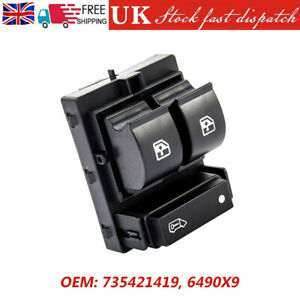 For Peugeot Boxer Citroen Relay Fiat Doblo Electric Window Switch Driver Side UK
