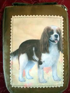 Zippered, foldable Cavalier King Charles Dog Shopping Bag