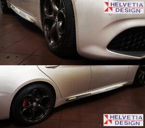 """Profili Minigonne / Profiles Side Skirts Alfa Giulia """"Quadrifoglio"""" nero opaco"""