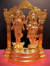 "Laxmi Ganesha Ganesh Gold Plated Statue~Hindu God &Goddess For Diwali puja ~6"""