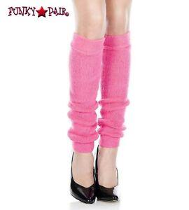 Music Legs Footless Knee High Leg Warmer 5724 (Neon Pink)