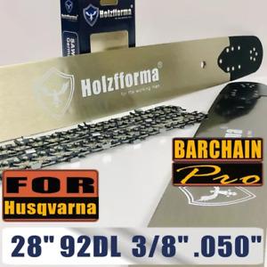 "28"" Guide Bar Saw Chain 92DL 3/8"" .050"" For Husqvarna 61 66 262 266 268 272 xp"