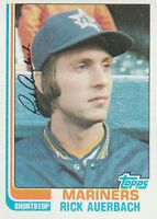 FREE SHIPPING-MINT-1982 (MARINERS) Topps #72 Rick Auerbach (FACSIMILE AUTOGRAPH)