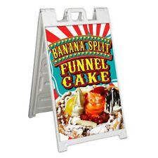 Funnel Cake Banana Signicade 24x36 A Frame Sidewalk Sign Carnival Fair Food