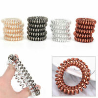 Lots 12PCS/SET Rubber Telephone Wire Hair Ties Spiral Hair Head Elastic Bands