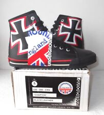 NEW UNDERGROUND ENGLAND 'Chapter' Black Leather Boots Biker/Goth Small Size 5