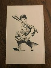 "LOU GEHRIG ARTWORK BY CHARLIE MCGILL 11"" x 17"""