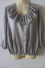 Joveeba silk grey top, size 10, pre loved