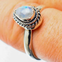 Rainbow Moonstone 925 Sterling Silver Ring Size 8.25 Ana Co Jewelry R25541F