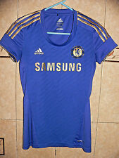 CHELSEA F.C. AUTHENTIC adidas BLUE JERSEY 2012-13 JUNIOR GIRLS XS SIZE