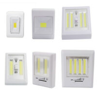 COB LED Wall Switch Light Magnetic Battery Operated Wireless Night Lighting Lamp
