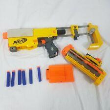 Nerf N Strike Recon CS-6 Yellow Nerf Gun With Shoulder Stock Barrel Foam Darts