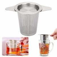 HOT Stainless Steel Tea Ball Infuser Filter Squeeze Leaves Herb Mesh Strainer
