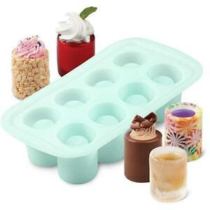 Wilton Shot Glass Silicone Mold 8 Cavity Holiday Treats Cookie Desserts Gelatin