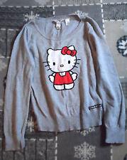 Schöner H&M Hello Kitty Pullover grau Gr.158/164 Baumwolle