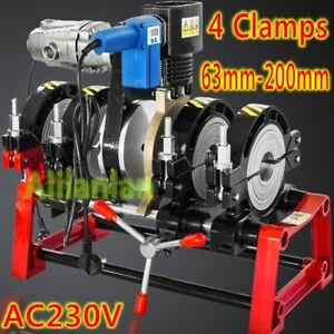"""electro 4 Clamps Pipe Fusion Welder PE HDPE PP Piping Hot Melt Engine 2.48""""-7.8"""""""