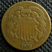 1872 Two cent piece. Rare key date!