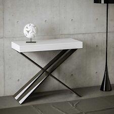 Tavolo consolle allungabile Bianco Frassino Diago soggiorno cucina moderno