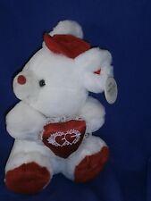 Vintage K P Kuddlies Valentine Teddy Bear by King Plush 10 inch Circa 1990s