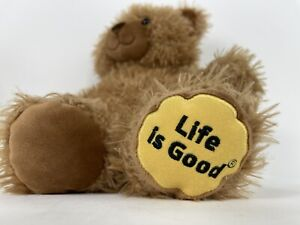 "Build A Bear  Plush Life is Good Brown Bear 15"" Stuffed Animal Shaggy BAB 2016"