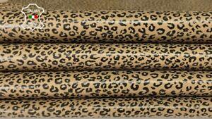 LEOPARD CHEETAH Italian lambskin Lamb sheep leather skin skins 5sqf 0.7mm #A8333