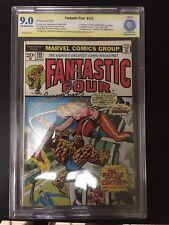 Fantastic Four #133 CBCS 9.0 VFNM SS Ramona Fradon signed (Marvel, 1973)