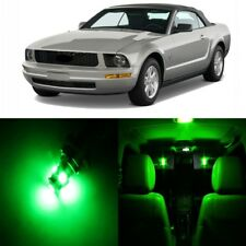 7 x Green LED Interior Light Package For 2005 - 2009 Ford Mustang + PRY TOOL