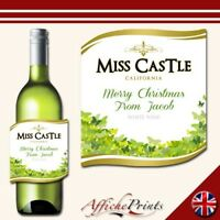 L37 Personalised Celebration White Wine Bottle Label - Perfect For Any Occasion!