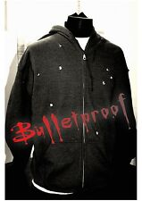 Bullet Hole Hoodie As Seen On Luke Cage Full Zip Charcoal Grey L Large