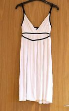 H&M sexy white short sundress with black lining uk size 8