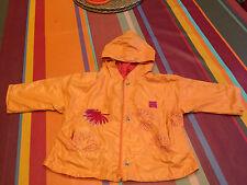 Veste MARESE 12 18m imperméable blouson pluie coupe vent K Way Orange valeur 60€