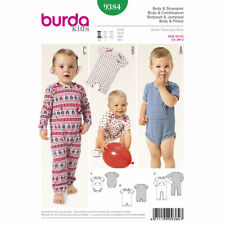 Burda Kids Easy SEWING PATTERN 9384 Baby/Toddler Bodysuit & Rompers 1m-2y