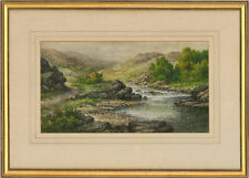 More details for charles a. bool - late 19th century watercolour, river landscape