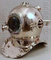 """Diving Divers Helmet Anchor Chrome Deep Sea Morse US Navy Mark V Full Size 18"""""""