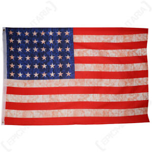 Antique WW2 US Flag 5x3 Foot World War Two Period Stars and Stripes USA