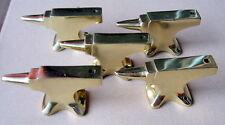 5 x Amboss aus Messing Schlüsselanhänger Briefbeschwerer anvil brass paperweight