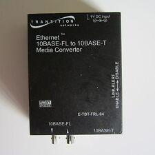Transition Networks Media Converter (1300nm 10BASE-FL to 10BASE-T) E-TBT-FRL-04