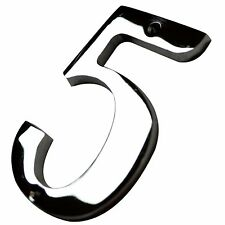 """4"""" Inch Chrome #5 House Numbers Home Address Wholesale Number Door Sign Hardware"""
