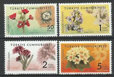 Turkey 2021 Flowers 4 MNH stamps