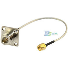 20cm SMA Male to N Type Female Flange Pigtail Semi-rigid RG405 Cable Gold Plated
