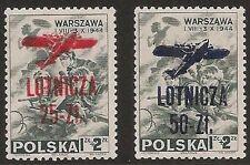 s1751) Polen - Polska - Poczta 1944 Warschauer Aufstand 2 ** Lotnicza Aufdruck