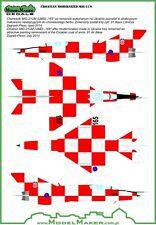 MIG 21 BIS-D/MiG-21 UM-D croate AF MKGS #48043 1/48 MODELMAKER