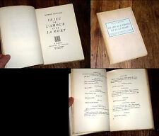 le jeu de l'amour et de la mort 1924 Romain Rolland édit. origin. sur vergé