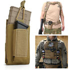 Military Tactical Molle Magazine Pouch Open-Top Single Rifle Pistol Mag Pouch