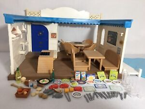 Calico critters/sylvanian families Seaside Restaurant W Accessories Boxed