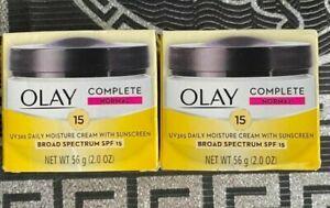 Lot 2 Olay Normal UV365 Daily Moisture Cream Sunscreen SPF 15 Moisturizer New