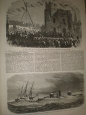 George Grey Mechanics Institute Newcastle & USA ship Monadnock 1865 prints ref T