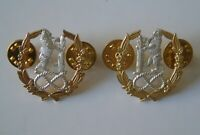 Staffordshire Warwickshire & Worcestershire Yeomanry Officers Collar Badges
