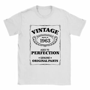 55th Birthday T-Shirt Born In 1963 Mens Present Gift Age - Aged to Perfection