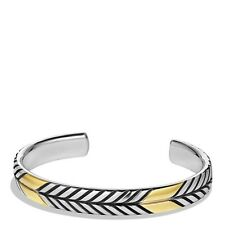 DAVID YURMAN MENS CHEVRON CUFF BRACELET WITH GOLD